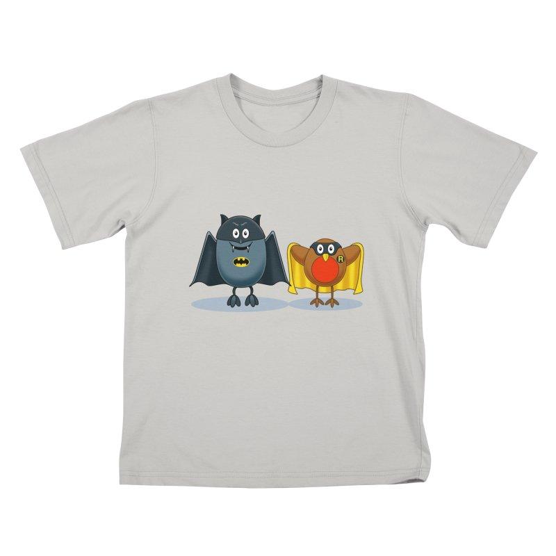 Bat and Robin Kids T-shirt by steveash's Artist Shop