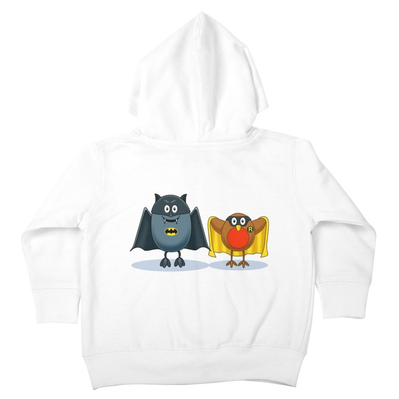 Bat and Robin Kids Toddler Zip-Up Hoody by steveash's Artist Shop