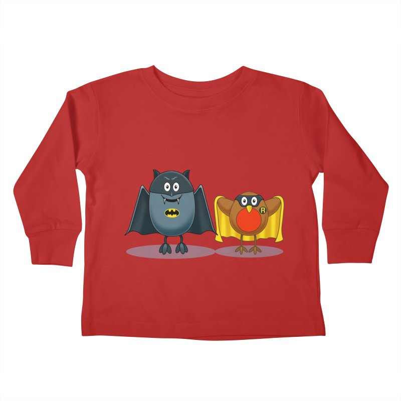 Bat and Robin Kids Toddler Longsleeve T-Shirt by steveash's Artist Shop