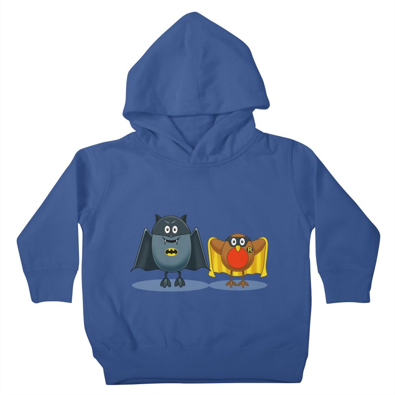 Bat and Robin Kids Toddler Pullover Hoody by steveash's Artist Shop
