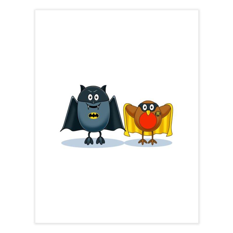 Bat and Robin Home Fine Art Print by steveash's Artist Shop