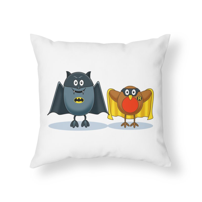 Bat and Robin Home Throw Pillow by steveash's Artist Shop