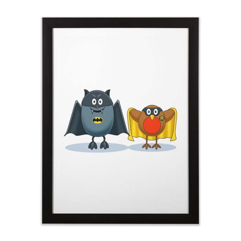 Bat and Robin Home Framed Fine Art Print by steveash's Artist Shop