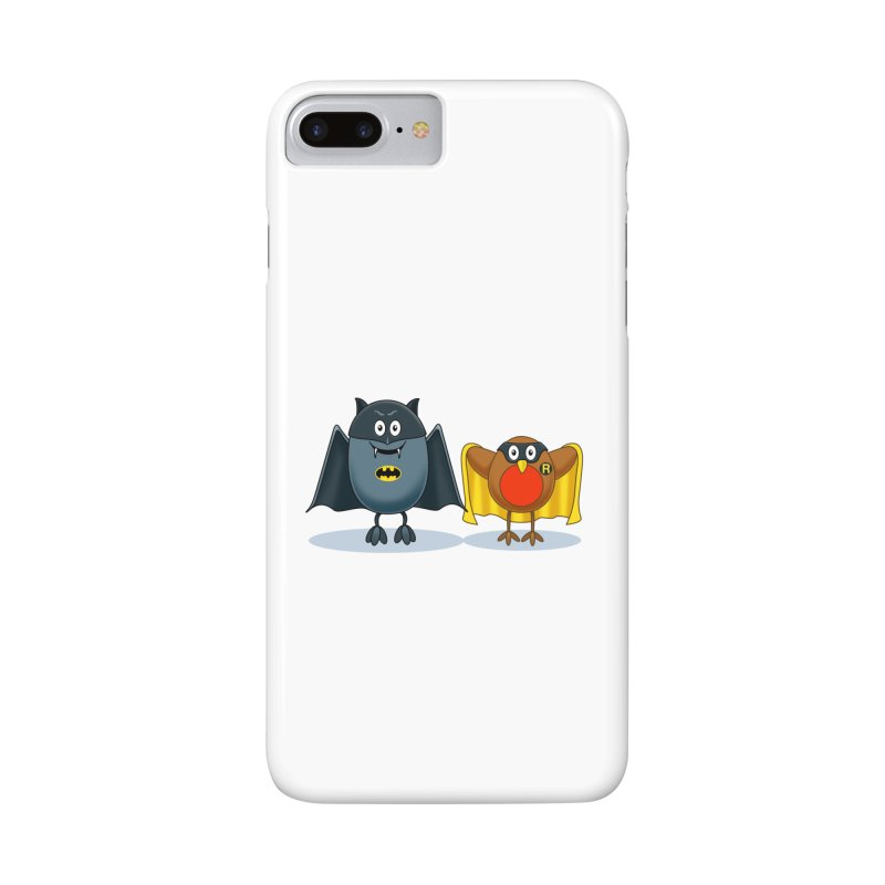 Bat and Robin Accessories Phone Case by steveash's Artist Shop
