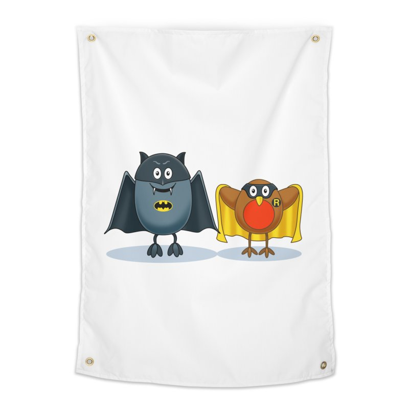 Bat and Robin Home Tapestry by steveash's Artist Shop