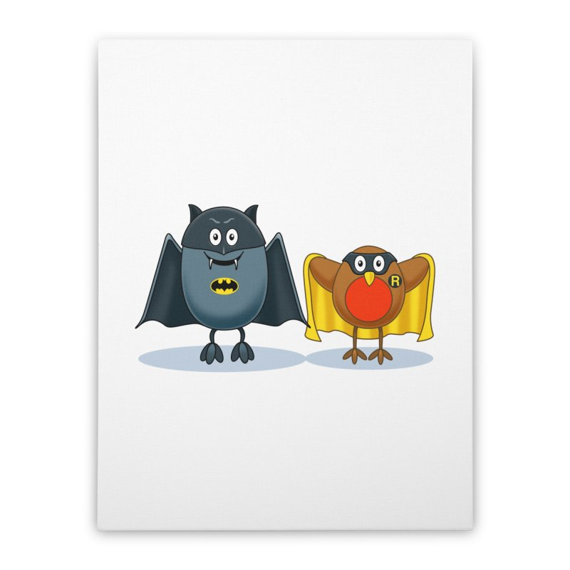 Bat and Robin Home Stretched Canvas by steveash's Artist Shop