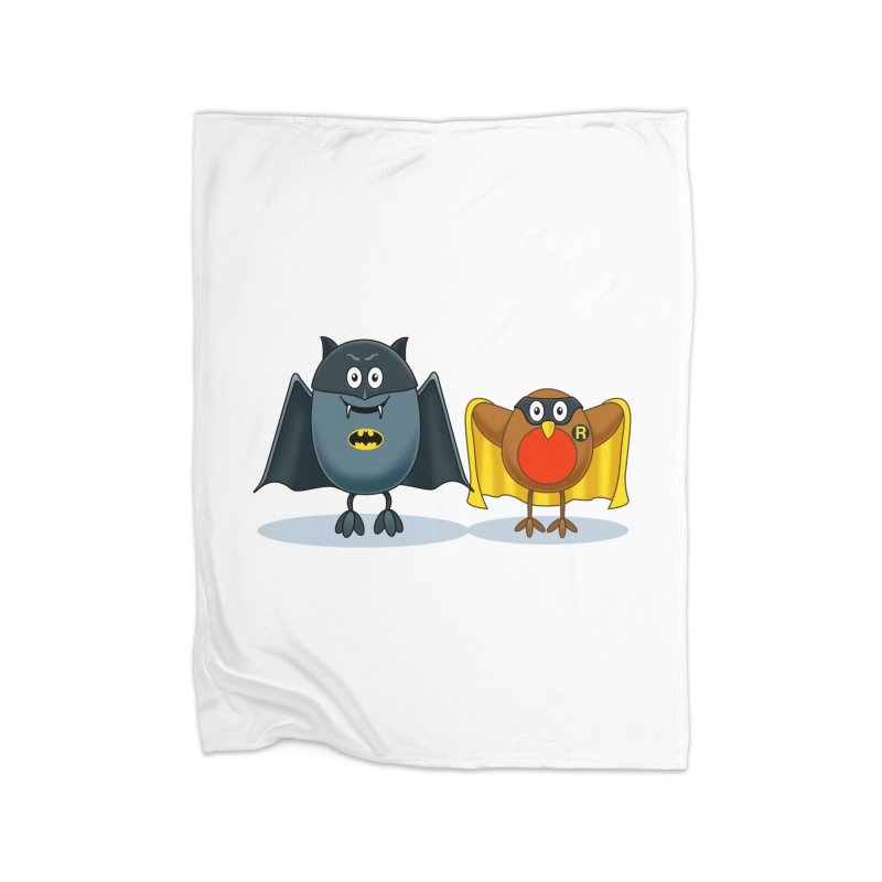 Bat and Robin Home Fleece Blanket Blanket by steveash's Artist Shop