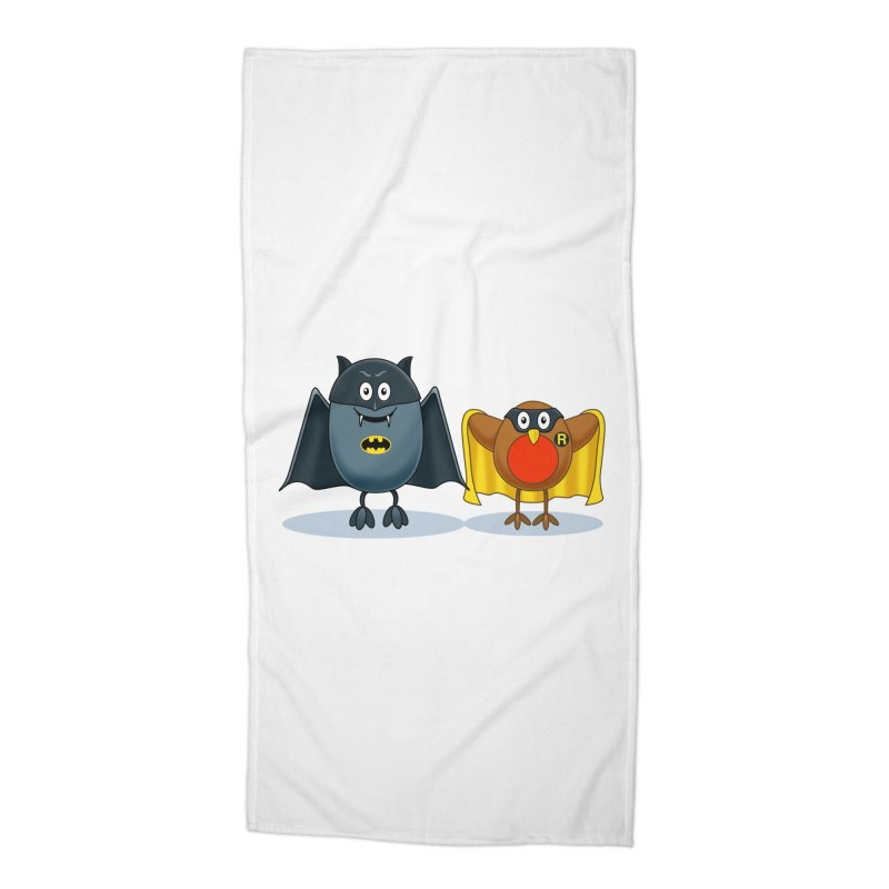 Bat and Robin Accessories Beach Towel by steveash's Artist Shop