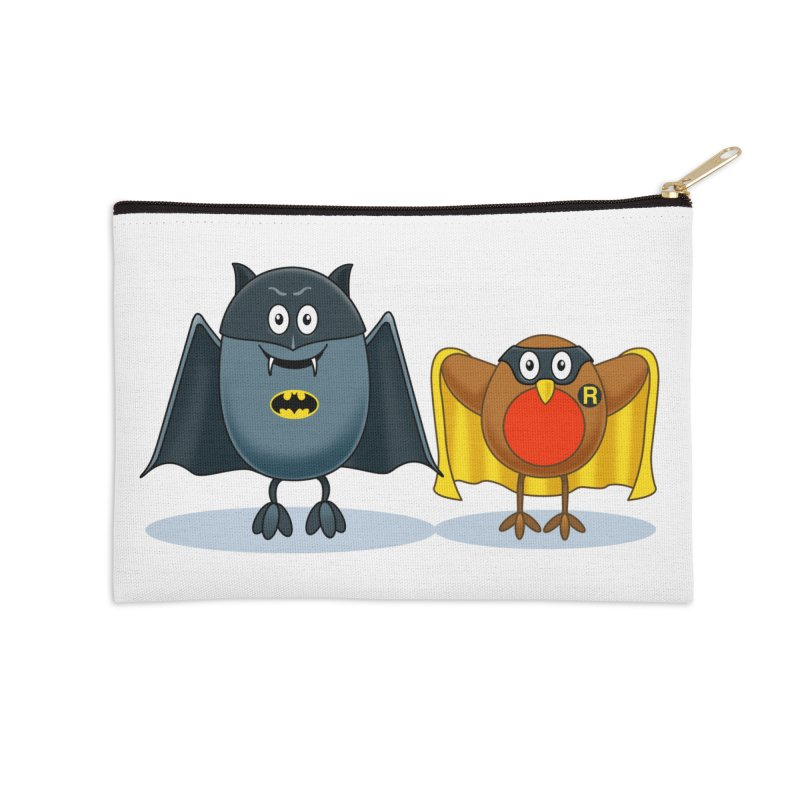Bat and Robin Accessories Zip Pouch by steveash's Artist Shop