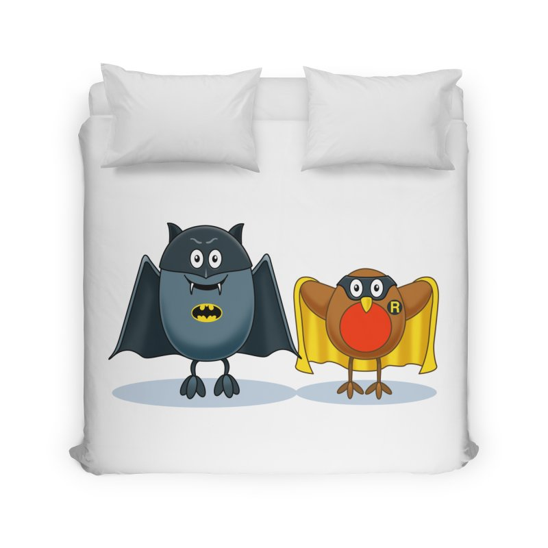 Bat and Robin Home Duvet by steveash's Artist Shop
