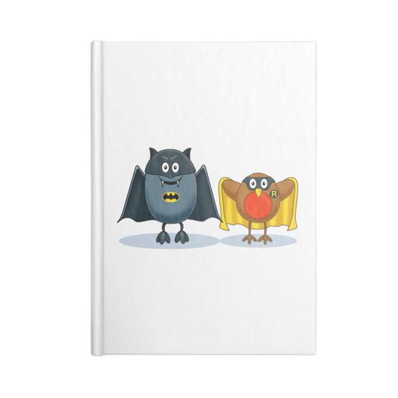 Bat and Robin Accessories Notebook by steveash's Artist Shop