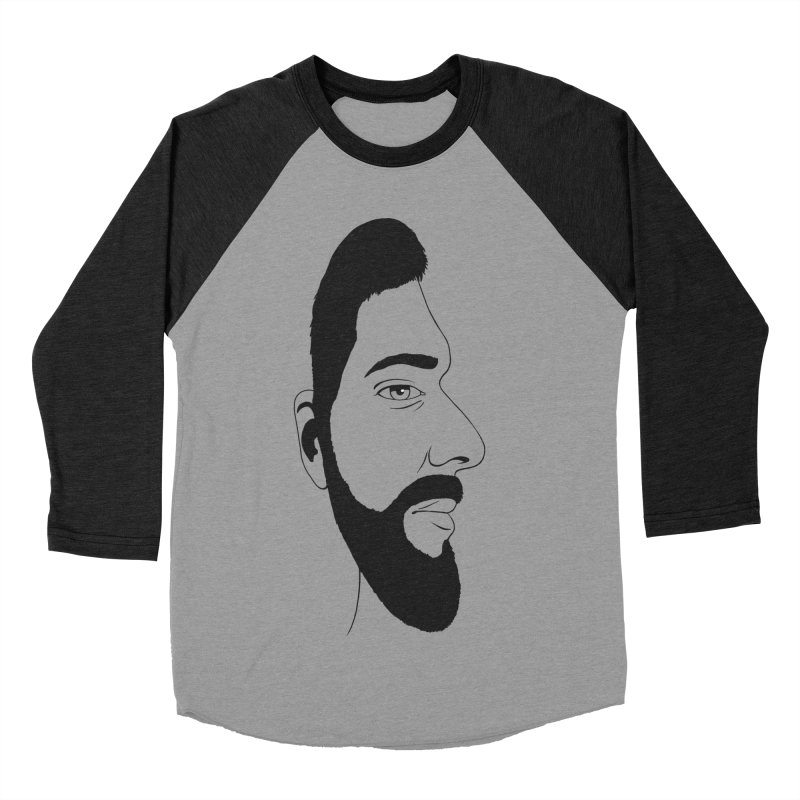 Face of Deception Men's Baseball Triblend T-Shirt by steveash's Artist Shop