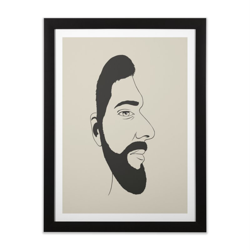 Face of Deception Home Framed Fine Art Print by steveash's Artist Shop