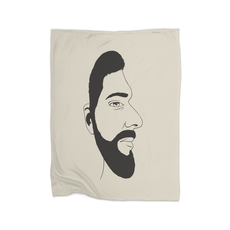 Face of Deception Home Fleece Blanket Blanket by steveash's Artist Shop