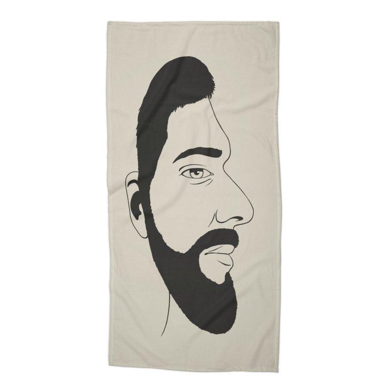 Face of Deception Accessories Beach Towel by steveash's Artist Shop