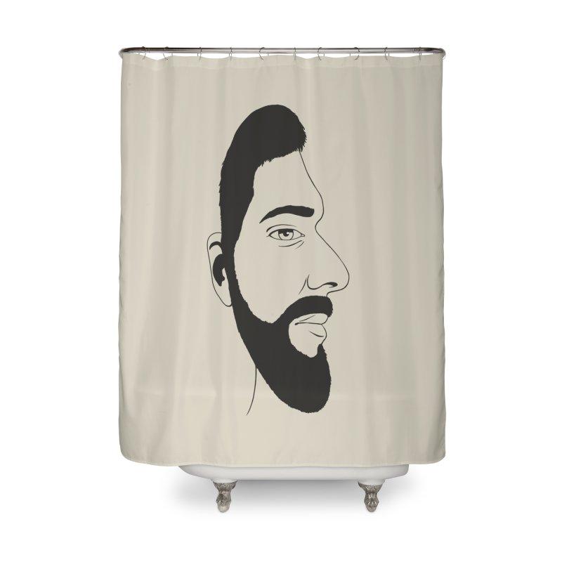 Face of Deception Home Shower Curtain by steveash's Artist Shop