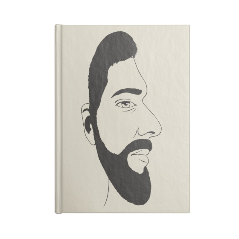 Face of Deception Accessories Blank Journal Notebook by steveash's Artist Shop