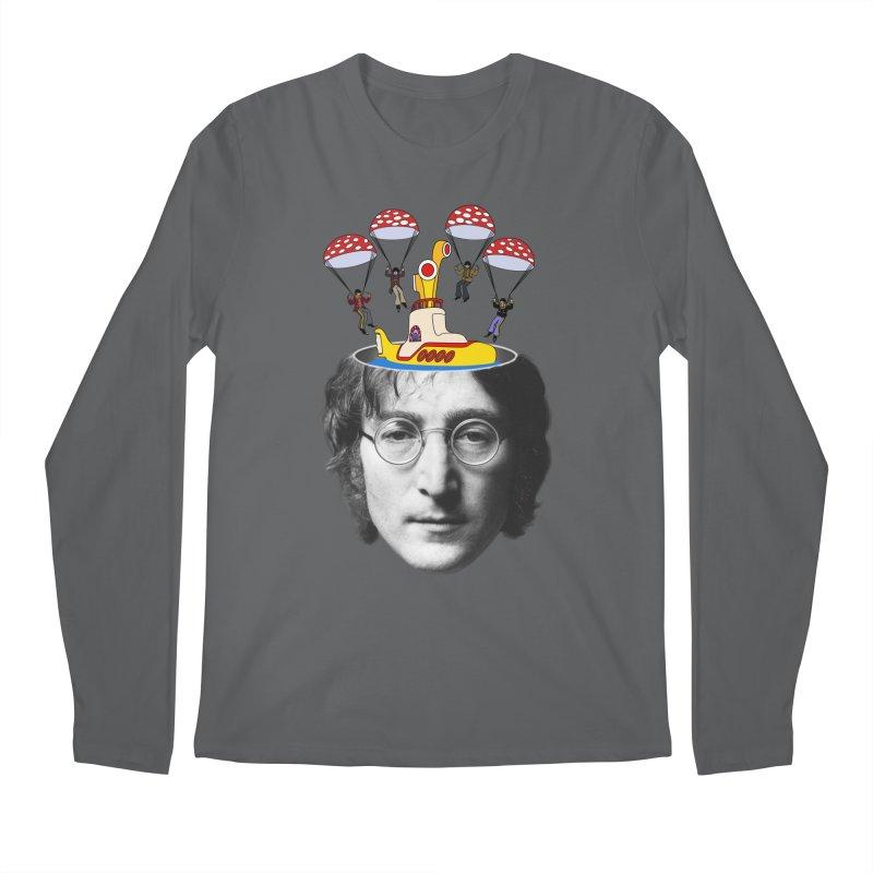 Lennon Men's Regular Longsleeve T-Shirt by steveash's Artist Shop