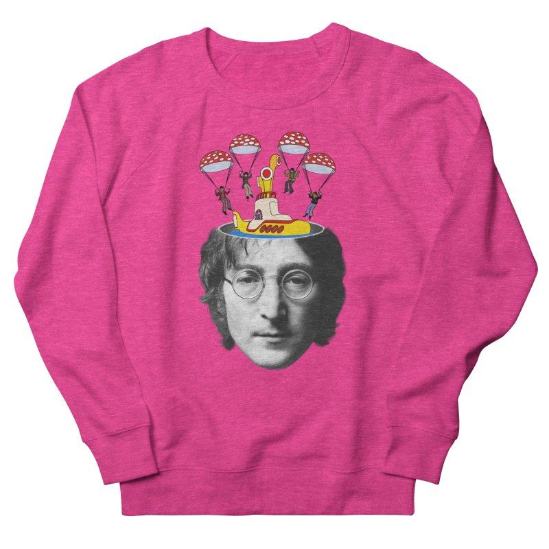 Lennon Men's French Terry Sweatshirt by steveash's Artist Shop