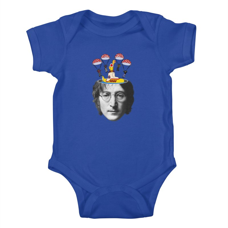 Lennon Kids Baby Bodysuit by steveash's Artist Shop