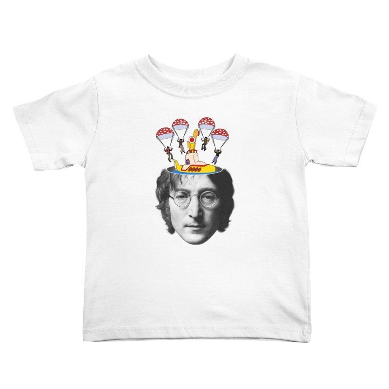 Lennon Kids Toddler T-Shirt by steveash's Artist Shop