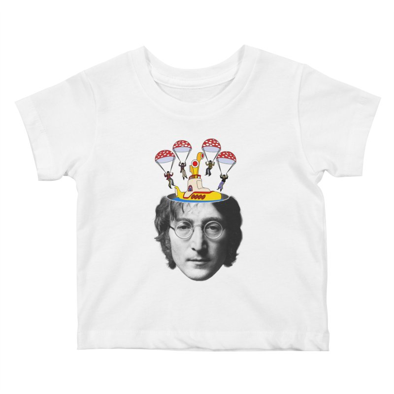 Lennon Kids Baby T-Shirt by steveash's Artist Shop