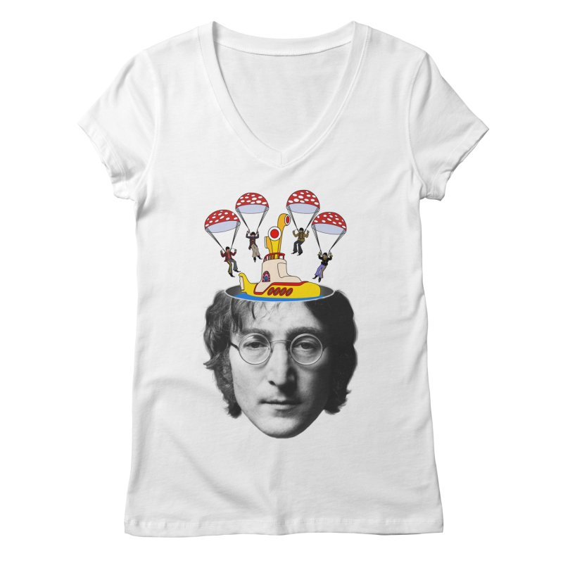 Lennon Women's V-Neck by steveash's Artist Shop