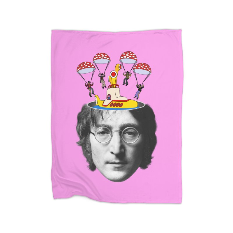 Lennon Home Fleece Blanket Blanket by steveash's Artist Shop