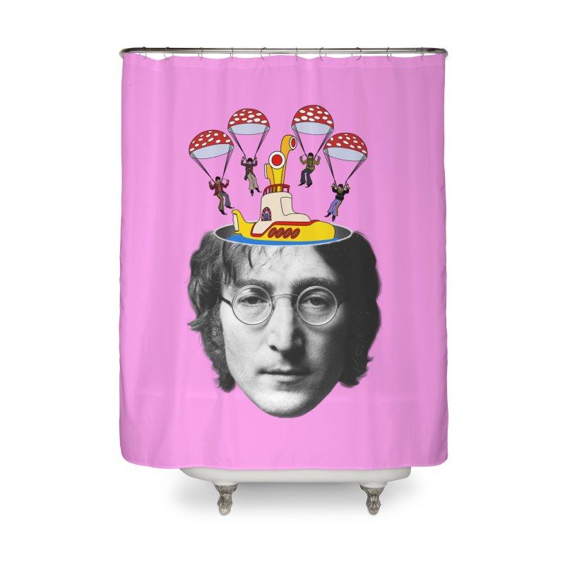 Lennon Home Shower Curtain by steveash's Artist Shop