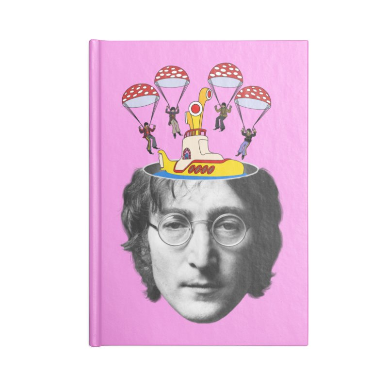 Lennon Accessories Blank Journal Notebook by steveash's Artist Shop
