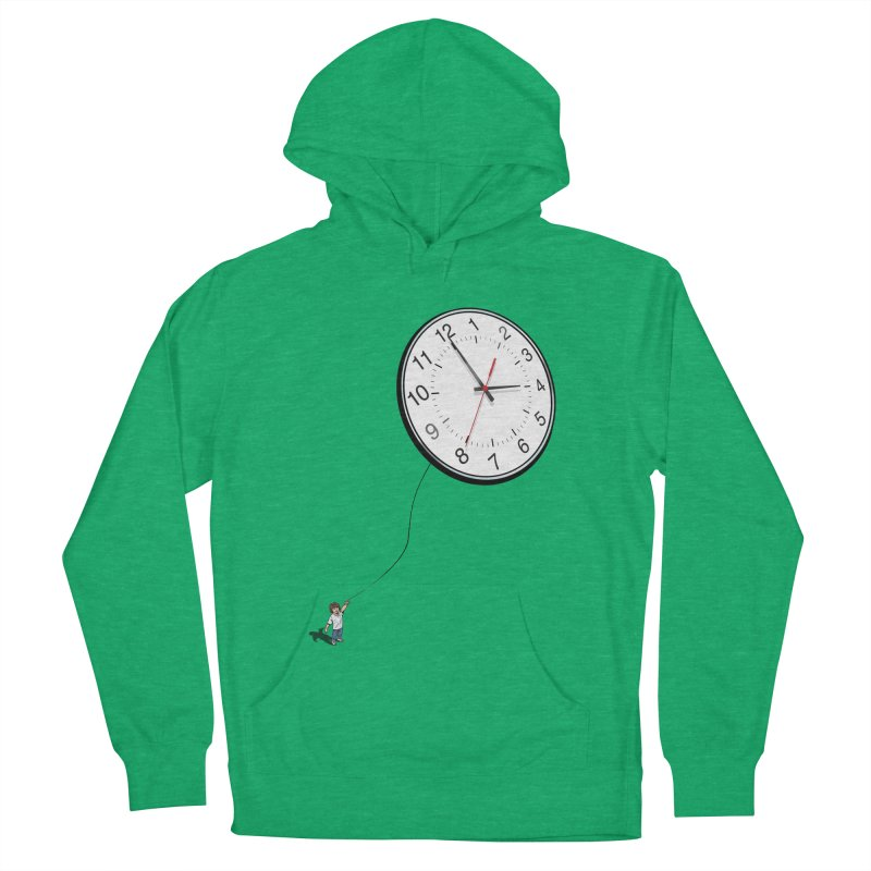 Time Flies Men's French Terry Pullover Hoody by steveash's Artist Shop