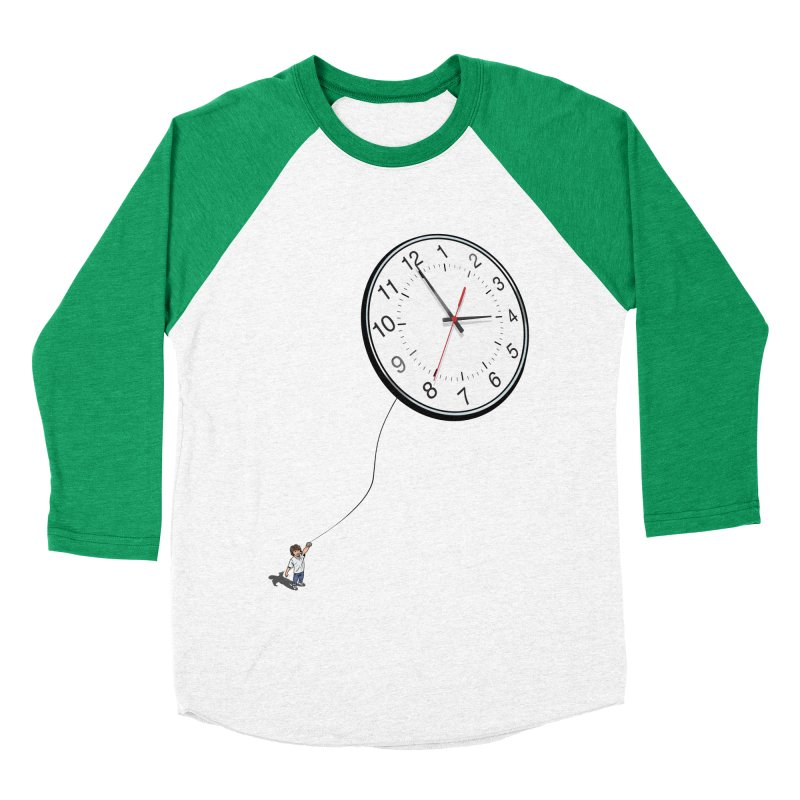 Time Flies Women's Baseball Triblend Longsleeve T-Shirt by steveash's Artist Shop