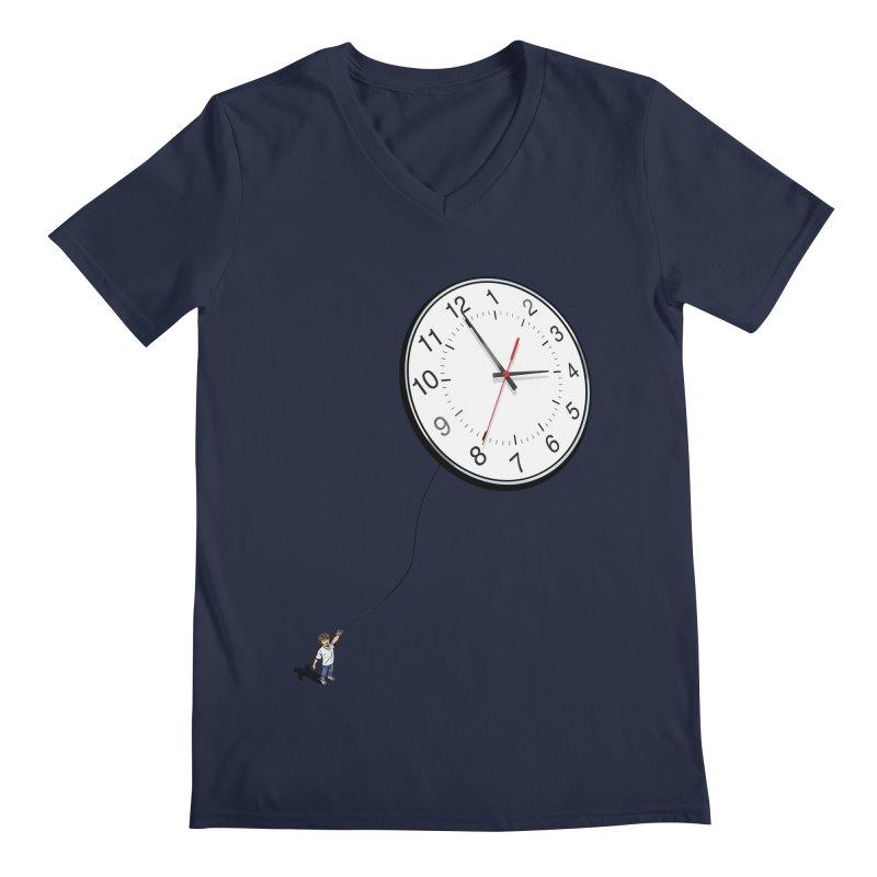 Time Flies Men's V-Neck by steveash's Artist Shop