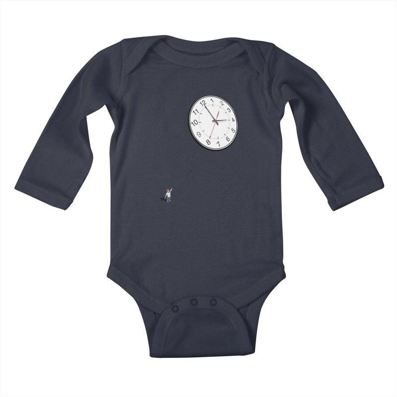 Time Flies Kids Baby Longsleeve Bodysuit by steveash's Artist Shop