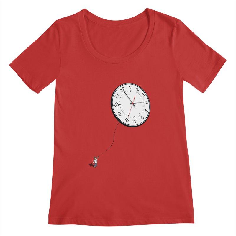 Time Flies Women's Scoopneck by steveash's Artist Shop