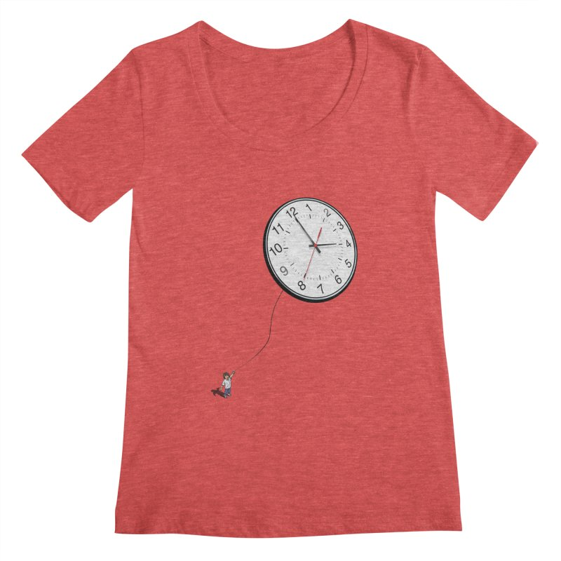 Time Flies Women's Scoopneck by steveash's Artist Shop