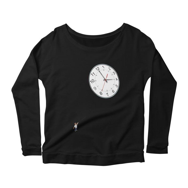 Time Flies Women's Longsleeve Scoopneck  by steveash's Artist Shop