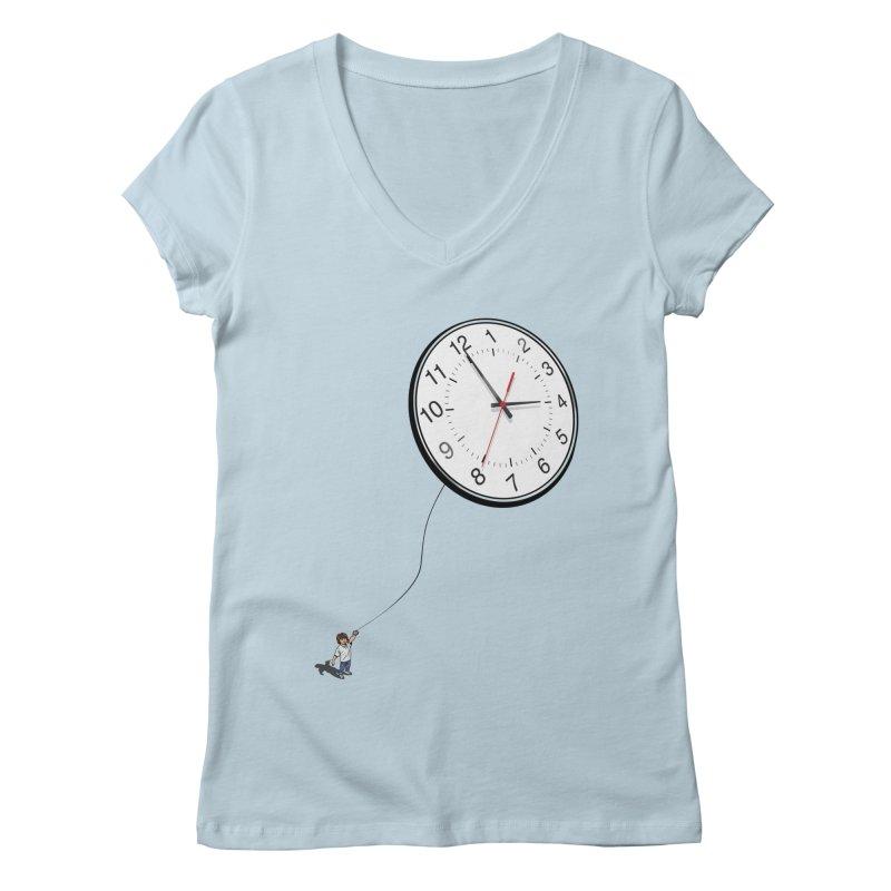 Time Flies Women's V-Neck by steveash's Artist Shop