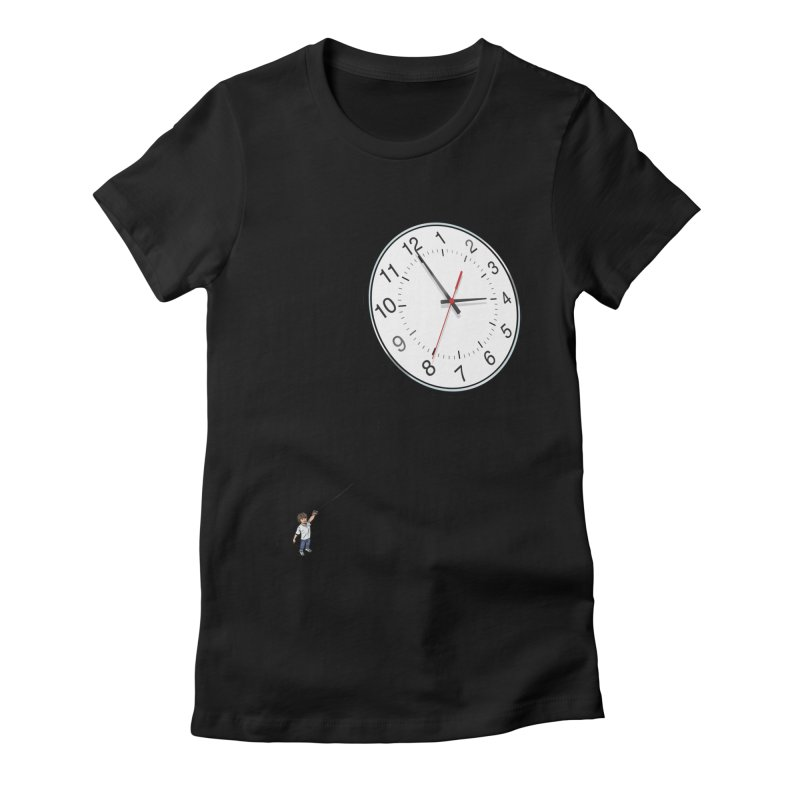 Time Flies Women's Fitted T-Shirt by steveash's Artist Shop