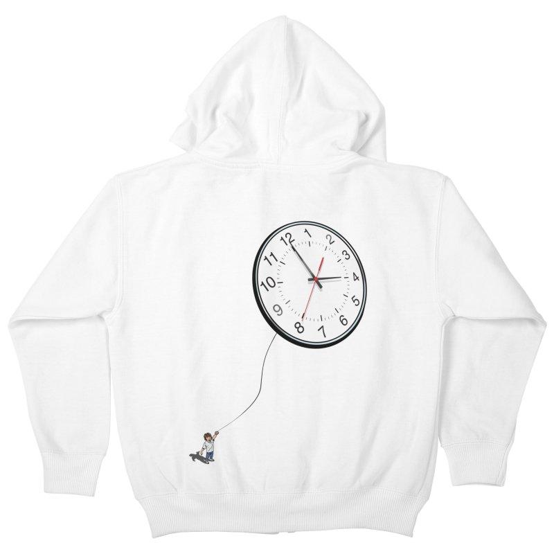 Time Flies Kids Zip-Up Hoody by steveash's Artist Shop