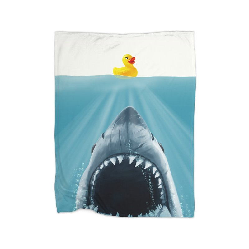 Save Ducky Home Fleece Blanket Blanket by steveash's Artist Shop