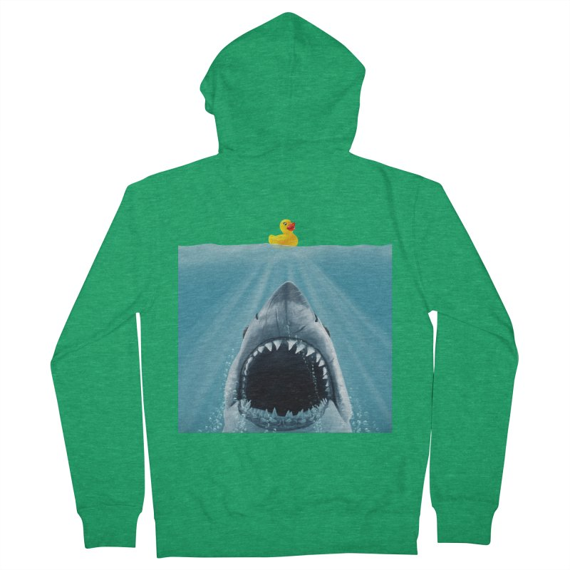 Save Ducky Men's French Terry Zip-Up Hoody by steveash's Artist Shop