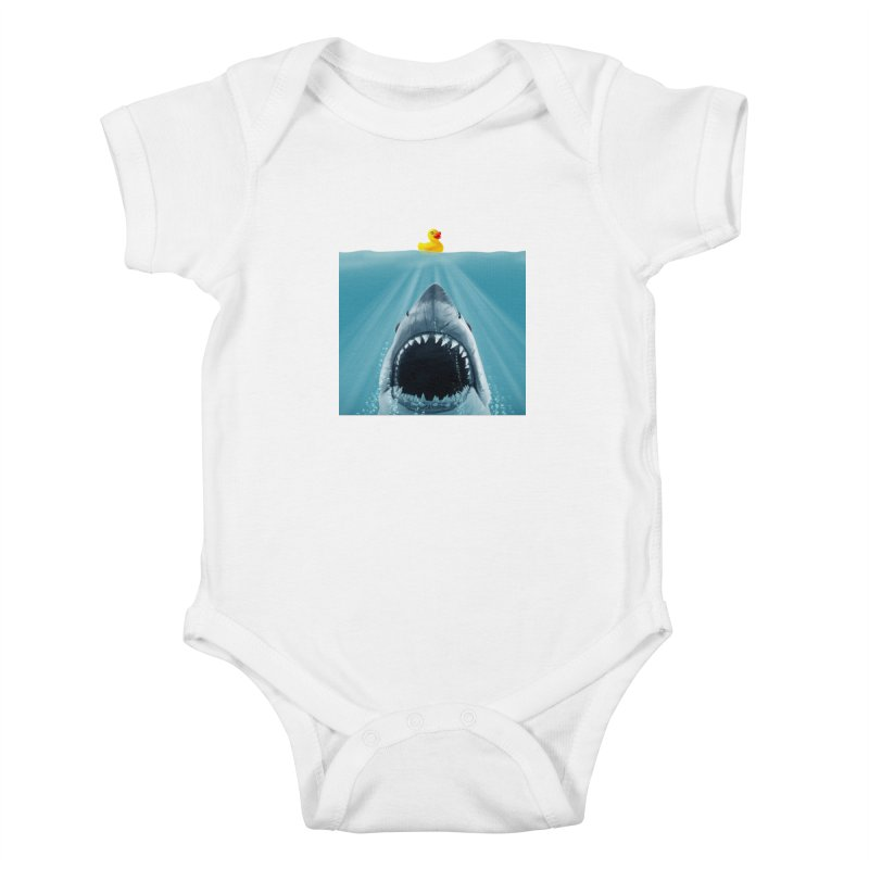 Save Ducky Kids Baby Bodysuit by steveash's Artist Shop