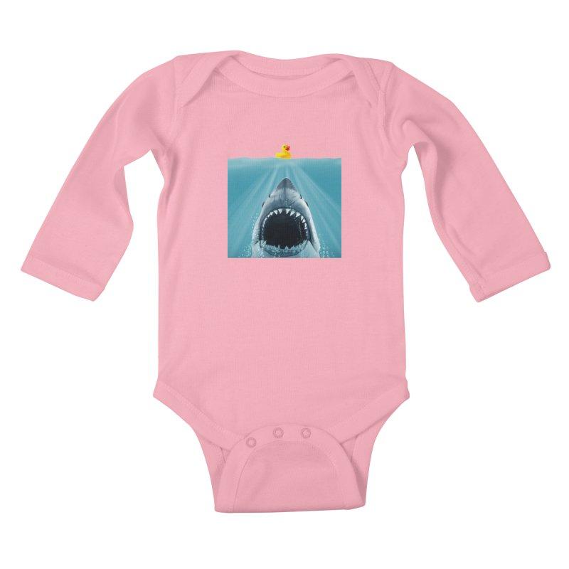Save Ducky Kids Baby Longsleeve Bodysuit by steveash's Artist Shop