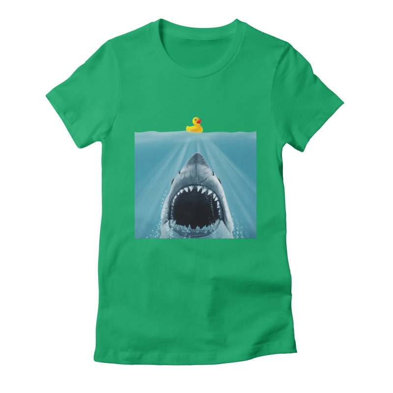 Save Ducky Women's Fitted T-Shirt by steveash's Artist Shop