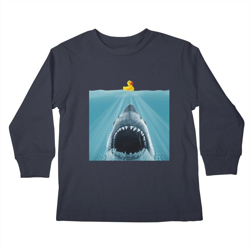 Save Ducky Kids Longsleeve T-Shirt by steveash's Artist Shop