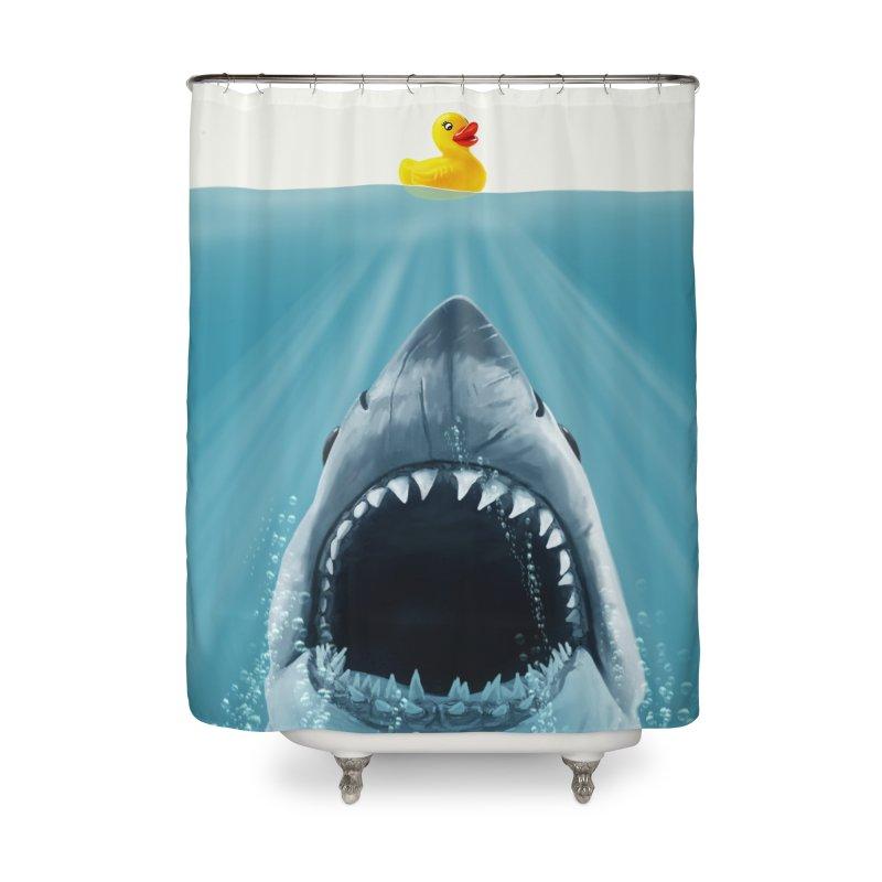 Save Ducky Home Shower Curtain by steveash's Artist Shop