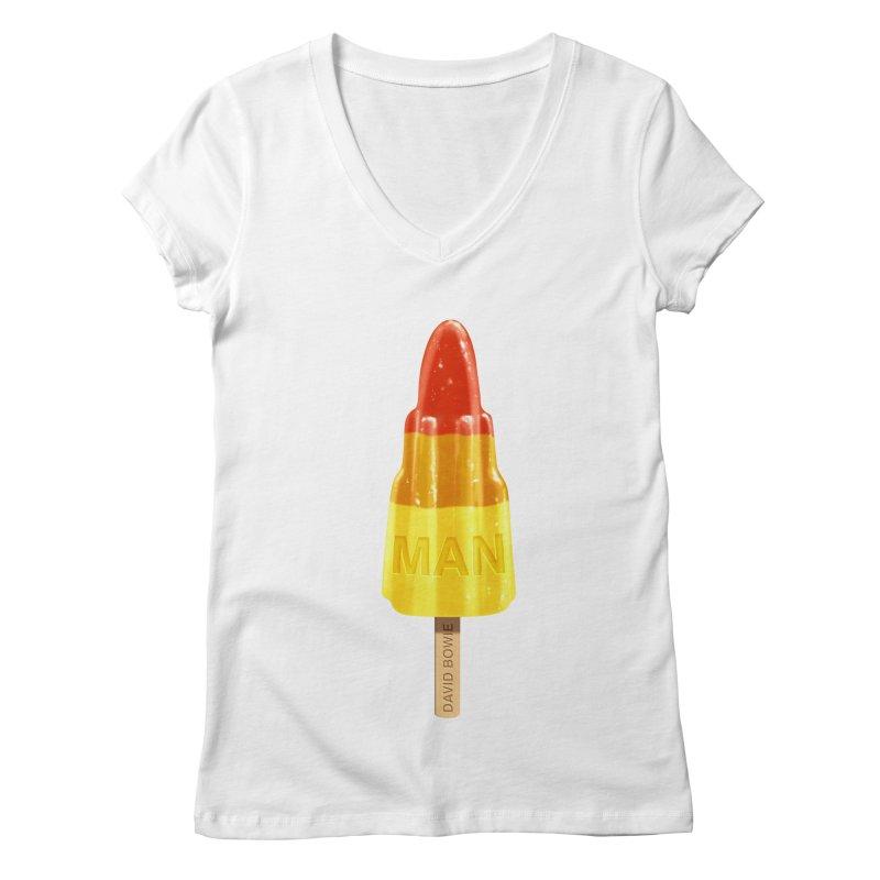 Rocket Man Women's V-Neck by steveash's Artist Shop