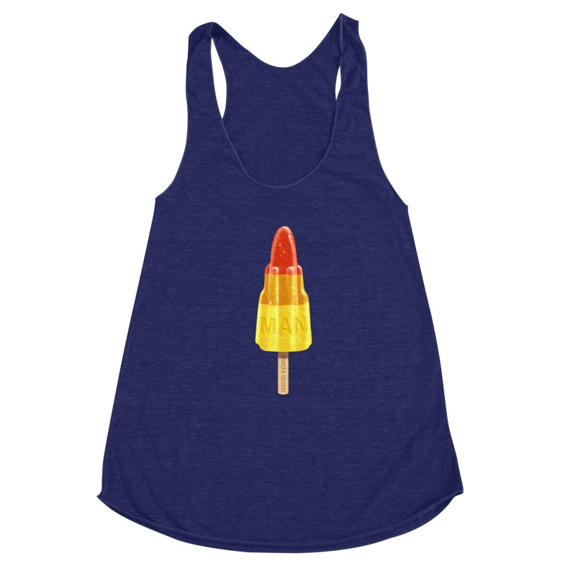 Rocket Man Women's Racerback Triblend Tank by steveash's Artist Shop