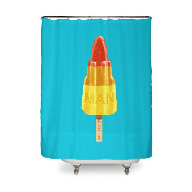 Rocket Man Home Shower Curtain by steveash's Artist Shop